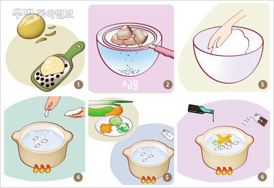 햇감자로 만들어 더욱 맛있는~감자 수제비 레시피