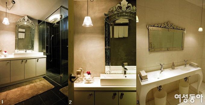 부티크 호텔처럼 욕실 드레싱