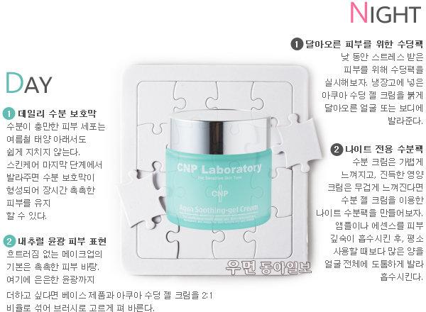 여름을 부탁해! 열 받은 피부 잠재우는 'CNP 아쿠아 수딩 젤 크림' 체험기