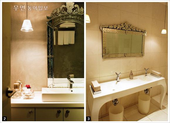작지만 고급스러운 공간 부티크 호텔처럼 욕실 드레싱