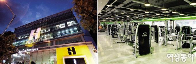 Hot fitness center
