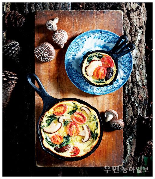 채소 듬뿍 든 영양식~ 표고버섯채소프리타타