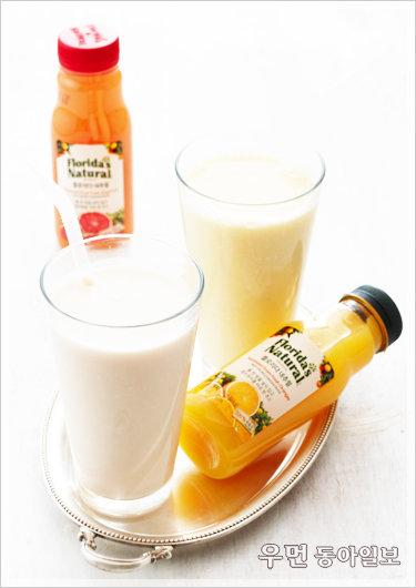 물 한 방울 넣지 않고 생오렌지, 생자몽을 한 병에 그대로! 플로리다 내추럴 주스와 함께한 가을 브런치 타임