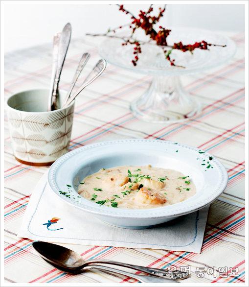 찬바람 불면 수프 한 그릇 ⑤ 응용 수프 - 클램차우더수프