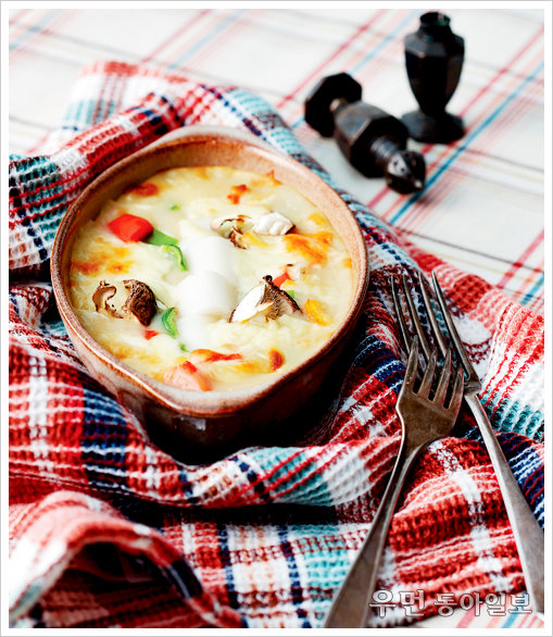 찬바람 불면 수프 한 그릇 ⑥ 감자수프 이용한 요리 - 가래떡그라탱