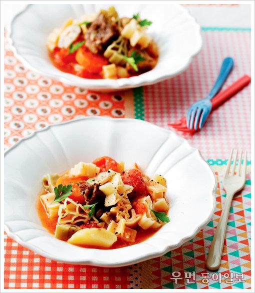 찬바람 불면 수프 한 그릇 ⑧ 응용 수프-토마토파스타스튜