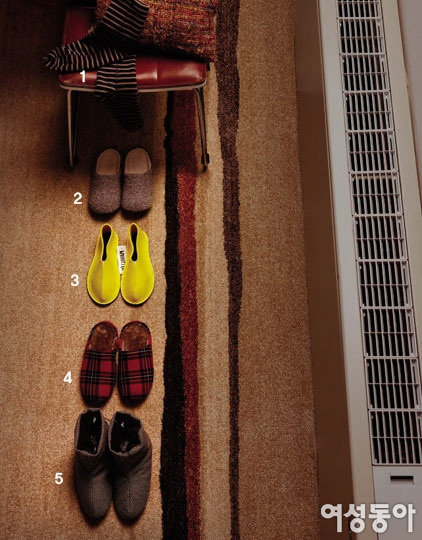 시린 발 위한 겨울 채비, 실내화