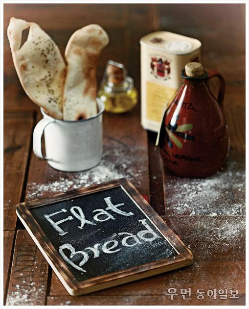 피자와 샌드위치 사이~ flat bread ② 표고버섯볶음 올린 플랫 브레드