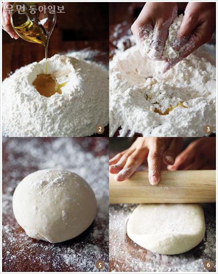 피자와 샌드위치 사이~ flat bread ③ 시금치 올린 플랫 브레드