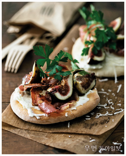 피자와 샌드위치 사이~ flat bread ④ 무화과 플랫 브레드