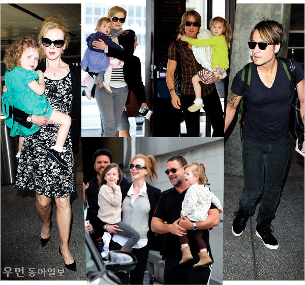 Celebrity family look~ ④ 제시카 알바&캐시 워렌, 니콜 키드먼&키스 어번 가족