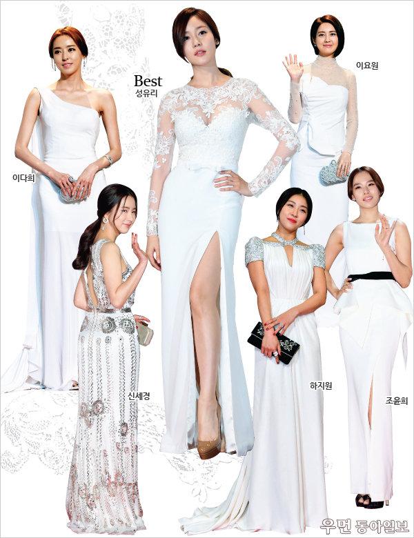 레드 카펫 드레스 리뷰 ① White&Black
