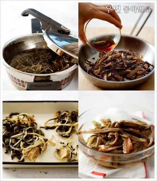 마른 나물, 친정엄마 손맛 내기 ⑦ 마른표고버섯청포묵무침