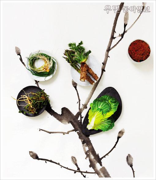 된장, 봄 채소를 만나다~ 냉이된장칼국수