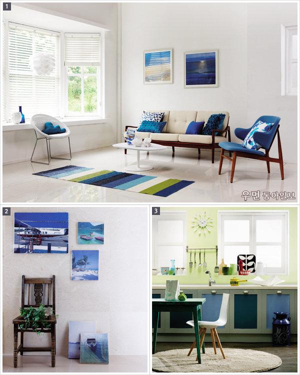 여름 인테리어라면 산토리니처럼~ Blue & White Interior