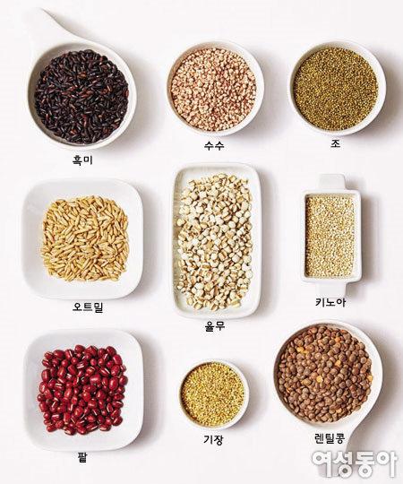 새로 나온 곡물로 만든 건강 요리