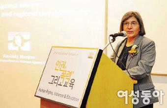 라시다 만주 유엔 여성폭력 특별 보고관
