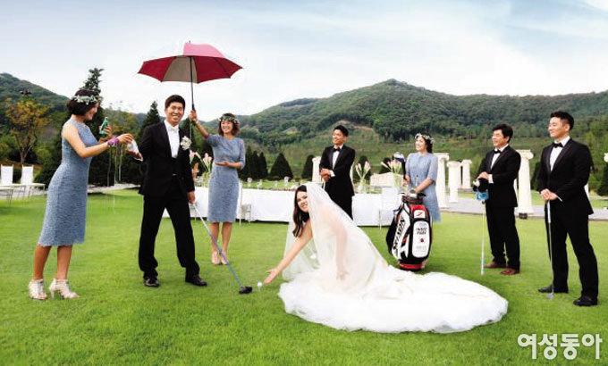 박인비의 '온그린' 결혼식
