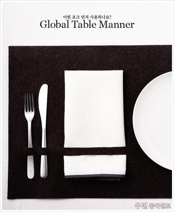 어떤 포크 먼저 사용하나요? Global Table Manner