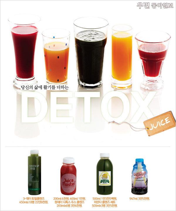 당신의 삶에 활기를 더하는  Detox Juice