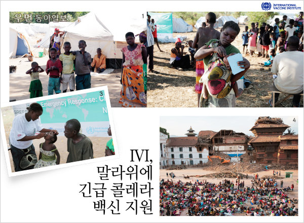 IVI, 말라위에 긴급 콜레라 백신 지원