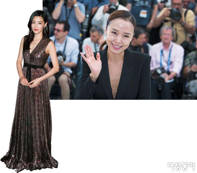 칸 레드카펫에 선 배우 전도연과 구찌 전지현 外