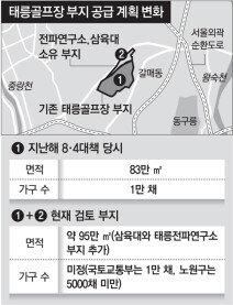 [단독]태릉골프장 터 아파트, 절반 줄어들듯