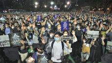 """'톈안먼 추모' 홍콩 1만여명 """"일당통치 끝내자"""" 反中 구호"""