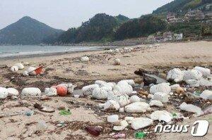 장마철 경남해안 해양쓰레기 '홍수'…8년간 8110톤 유입