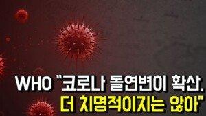 """WHO """"코로나 돌연변이 확산, 더 치명적이지는 않아"""""""