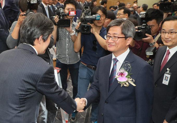 9월 26일 오후 서울 서초구 대법원에서 취임식을 가진 김명수 대법원장.[박영대 동아일보 기자]