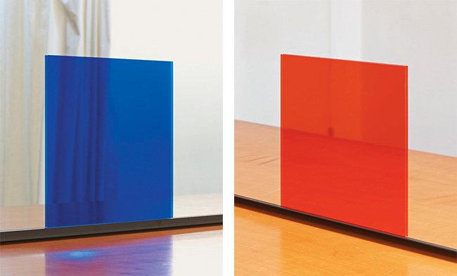 Hyungsik Kim, Blue Square, 2014, C-Print, 150x120cm. Red Square, 2014, C-Print, 150x120cm.