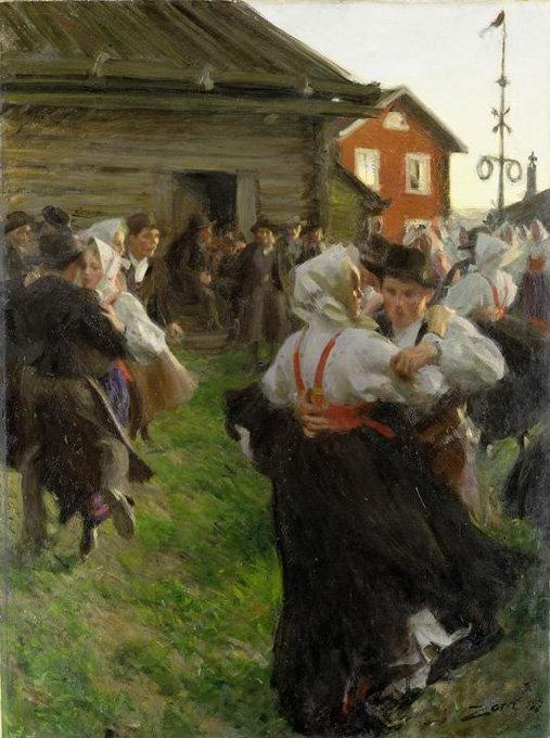 Anders Zorn, 'Midsummer Dance', 1897