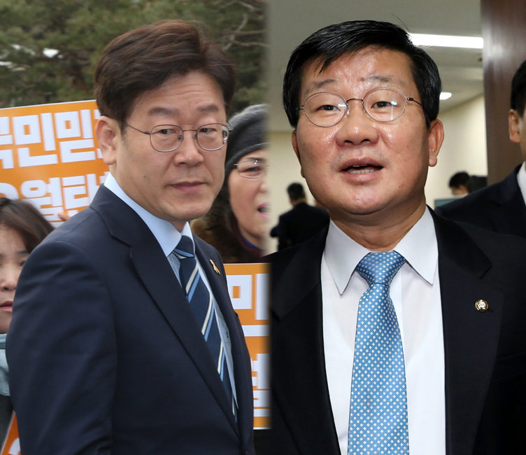 이재명 성남시장과 전해철 더불어민주당 의원.[안철민 동아일보 기자, 뉴스1]