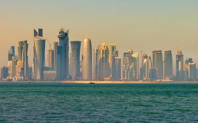 고층 건물이 즐비한 카타르 수도 도하. [위키피디아]