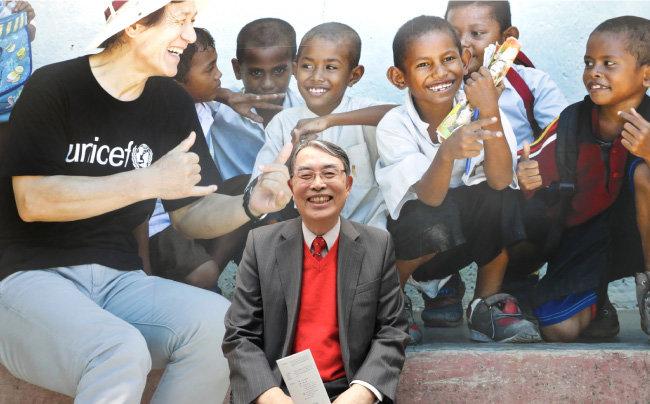 송상현 전 재판소장은 현재 유니세프한국위원회 회장으로 일한다. [박해윤 기자]