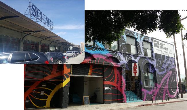옛 섬유공장을 리모델링해 예술가 레지던시로 활용 중인 '아트셰어'와 폐쇄된 기차 화물역을 개조해 캠퍼스로 사용하는 건축학교