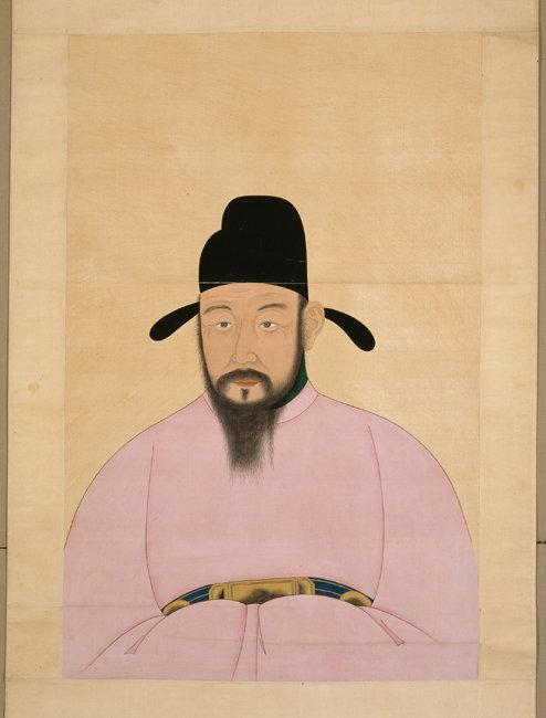 국립중앙박물관이 소장한 황희 초상화. 황희가 서자였다는 역사 기록이 몇 가지 존재한다.