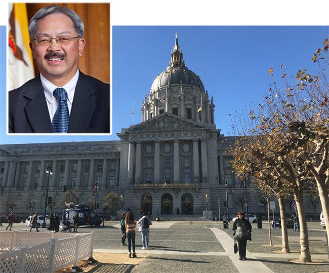 샌프란시스코 최초 아시아계 시장 에드윈 리(위쪽) 샌프란시스코 시청사. [샌프로시스코 시장실 공식 홈페이지, 사진제공·황장석]