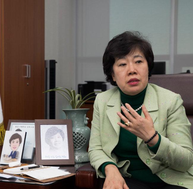 조배숙 민주평화당 대표는 호남정신의 전국화를 자신했다. [조영철 기자]