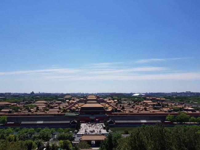 베이징 자금성 위로 맑은 하늘이 펼쳐져 있다. [강민수]
