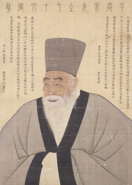 우암 송시열 초상. 18세기 문인이자 화가인 김창업이 그렸다. [국립춘천박물관]