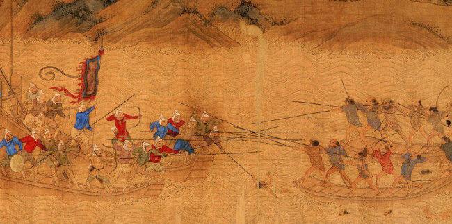 왜구의 침략을 그린 16세기 명나라 그림. 왜구는 한반도와 중국 해안에 출몰해 약탈을 일삼았다. [알마 제공]