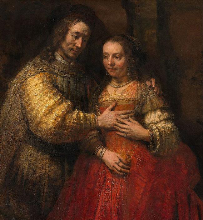 유대 사회 등 족내혼 전통이 강한 사회에서 형사취수가  성행했다. 렘브란트의 작품 '유대인 신부'(1665~1669,  암스테르담국립박물관 소장).