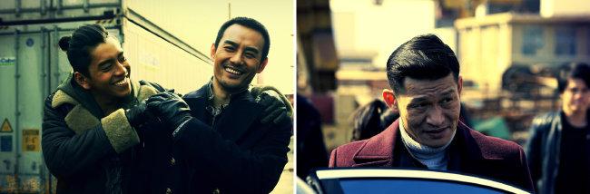 <영웅본색4>에서 각각 주윤발과 적룡 배역을 맡은 왕다루와 왕카이(왼쪽). 이 영화에서 위아이레이는 비열한 악당 '창'을 연기했다.