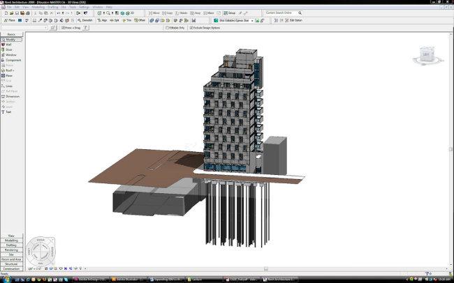 BIM 전용 소프트웨어 레빗(Revit)으로 건축물을 설계하는 모습. [Flickr]