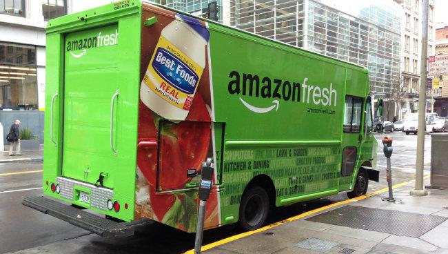 아마존 프레시의 냉장 기능 트럭. [Flickr]