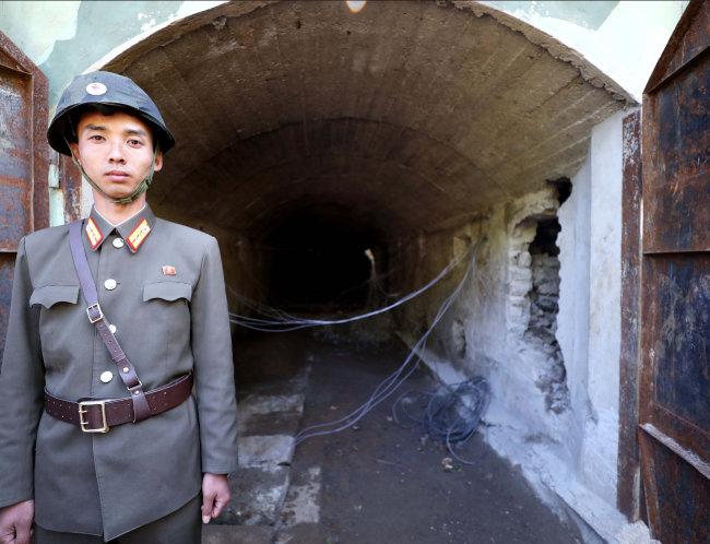 5월 24일 폭파작업이 진행된 함경북도 길주군 풍계리 핵실험장 3번 갱도.