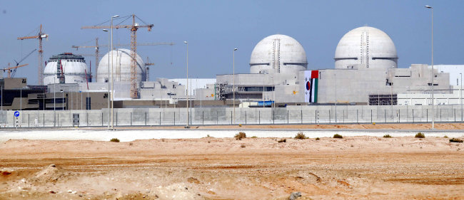 우리나라 원전 수출 1호 아랍에미리트 바라카 원전 1·2·3·4호기 모습. [뉴시스]