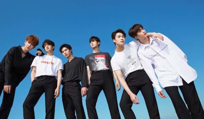 아스트로 MJ, 진진, 라키, 차은우, 문빈, 윤산하(왼쪽부터). [판타지오 뮤직 제공]